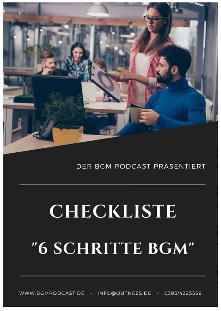 Checkliste BGM Betriebliches Gesundheitsmanagement