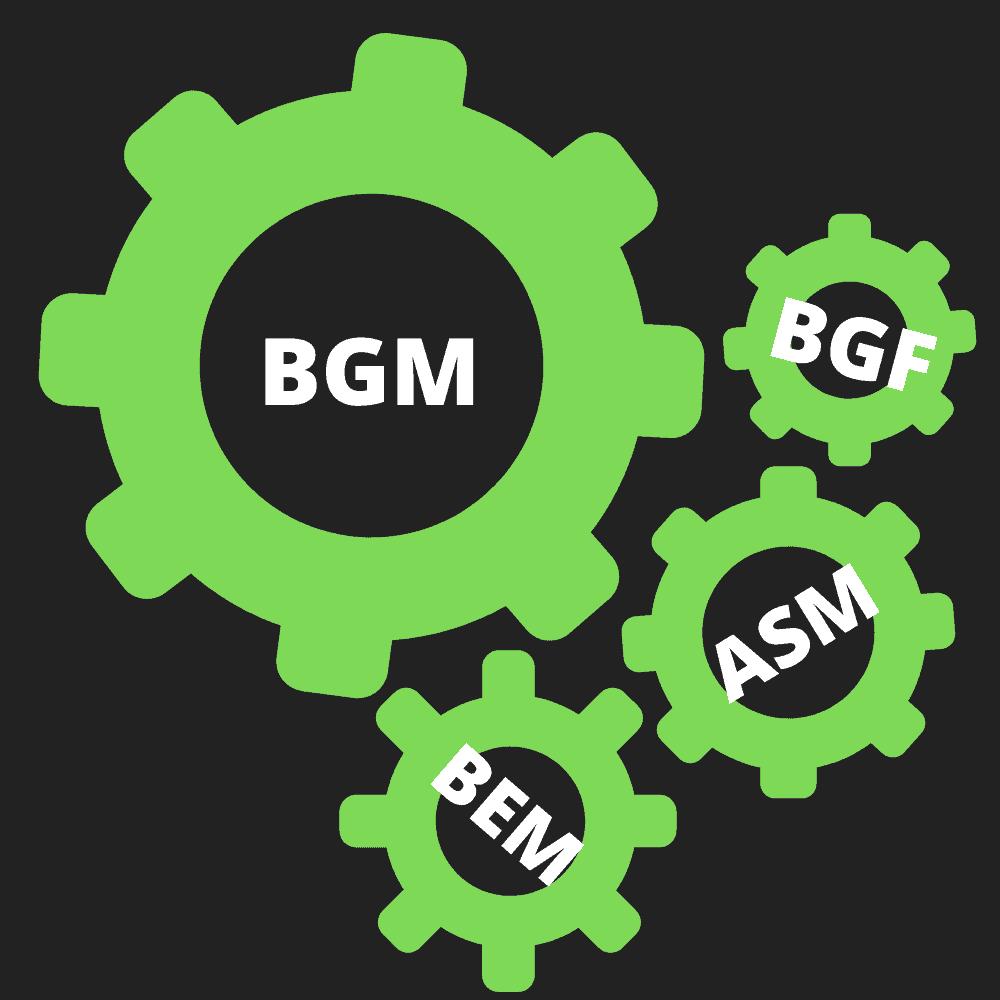Was ist Betriebliches Gesundheitsmanagement? BGM einfach erklärt! Definition Betriebliches Gesundheitsmanagement. Das Zusammenspiel von BGF, BEM, ASM