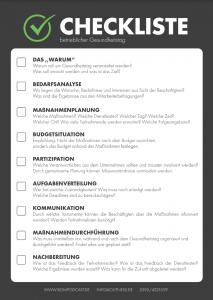 Checkliste Gesundheitstag