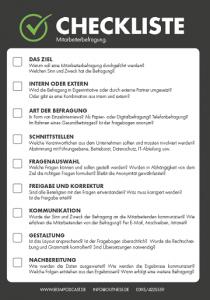 Checkliste Mitarbeiterbefragung BGM